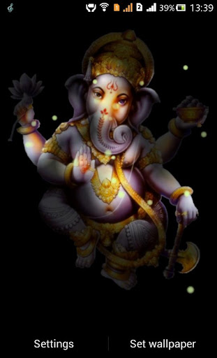 Ganesh FireFlie Live Wallpaper