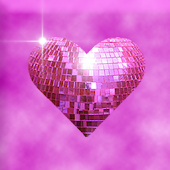Pink Sparkle Hearts Live