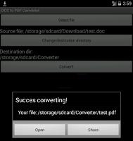 Screenshot of DjVU to PDF converter