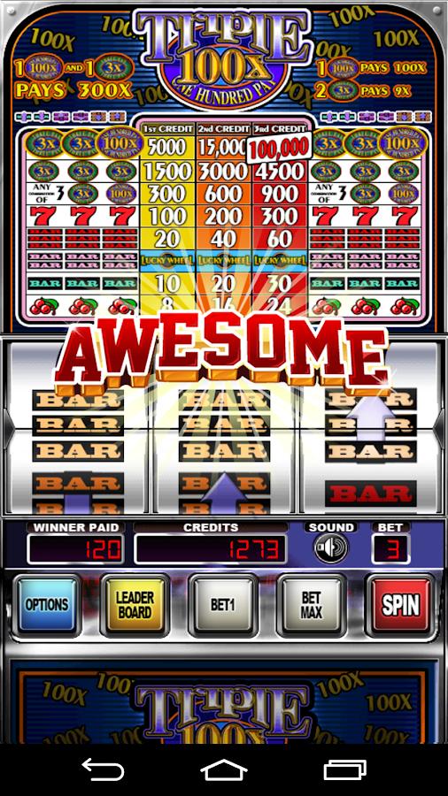 100x pay slot machine