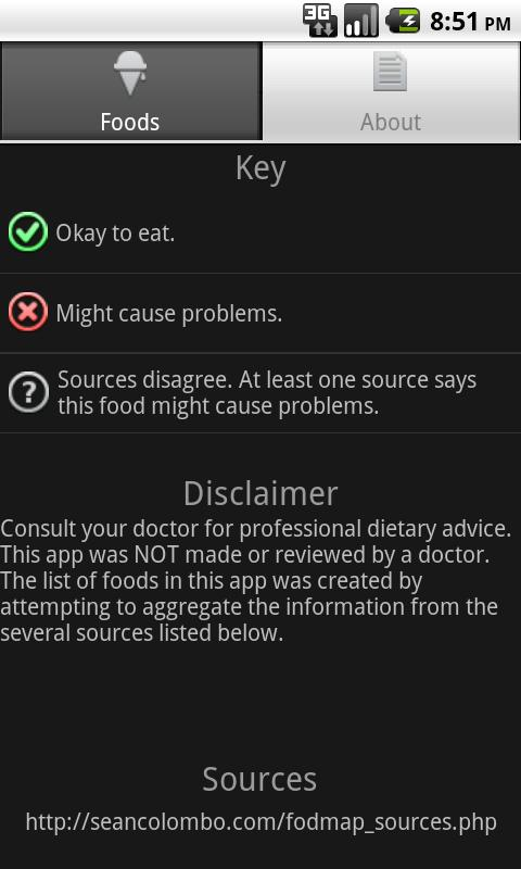 Low - FODMAP Diet - screenshot