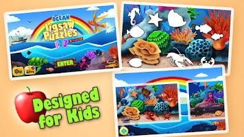 Screenshot of Kids Jigsaw Puzzles Ocean Free