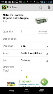 Grocery iQ - screenshot thumbnail