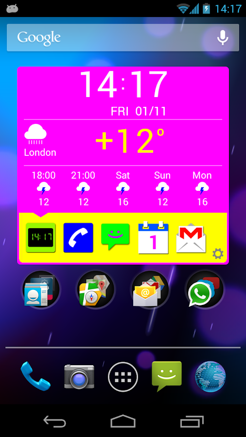 Organizer Widget - screenshot