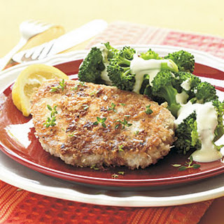 Asiago-Crusted Pork Chops.