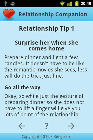 Relationship Companion - screenshot