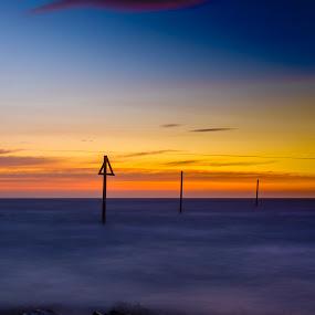 Westhaven Sunrise by Ben Leng - Landscapes Sunsets & Sunrises ( scotland, north sea, dawn, westhaven, carnoustie, angus, harbour, sunrise, rocks, sun )