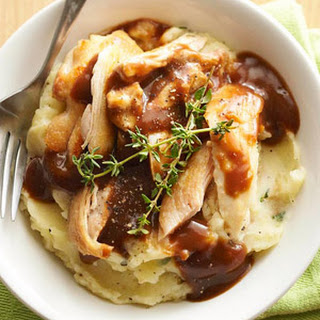 Chicken, Potato, and Gravy Bowls.