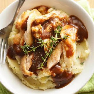 Chicken, Potato, and Gravy Bowls.