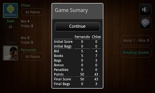 Spades Online Tournament! FREE - screenshot thumbnail