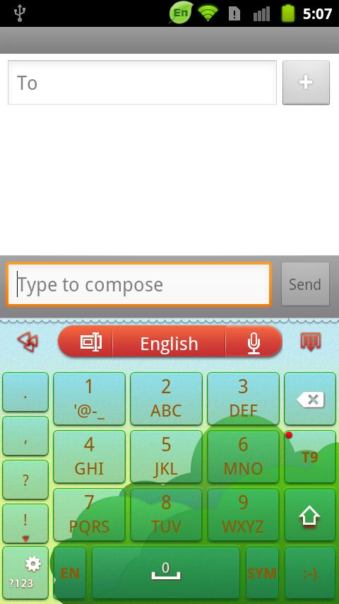 GOKeyboard LittleRedCap theme - screenshot