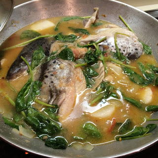 Fish Head and Bellies Stewed in Miso and Tamarind