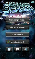 Screenshot of Asteroid Defense Classic