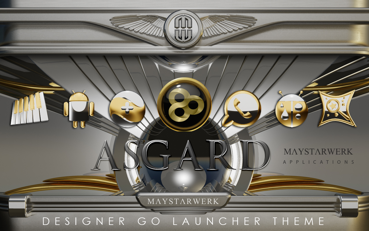 GO Launcher theme Asgard- screenshot
