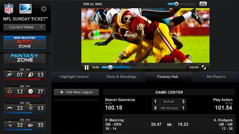 NFL Sunday Ticket for Tablets Screenshot 8
