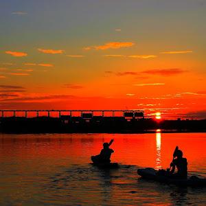 Sunrise on river.JPG