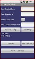 Screenshot of Discount Calculator