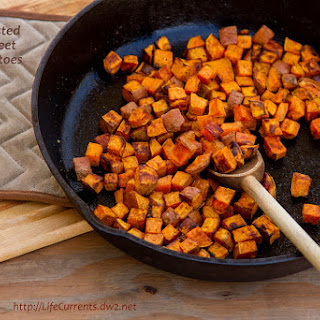 Roasted Sweet Potatoes.