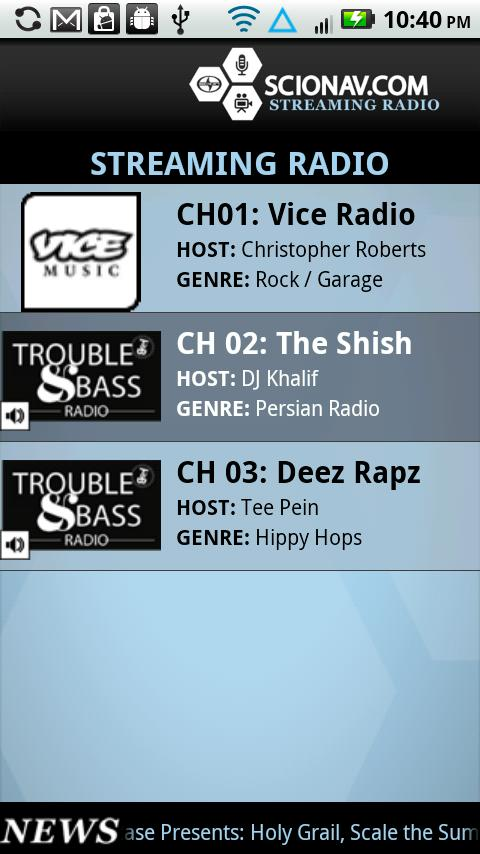 Scion AV Radio - screenshot