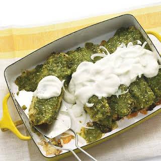 Chicken Enchiladas Verdes.