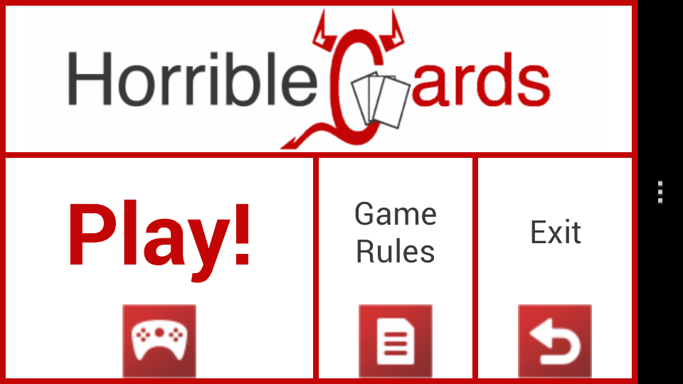 Horrible Cards- screenshot
