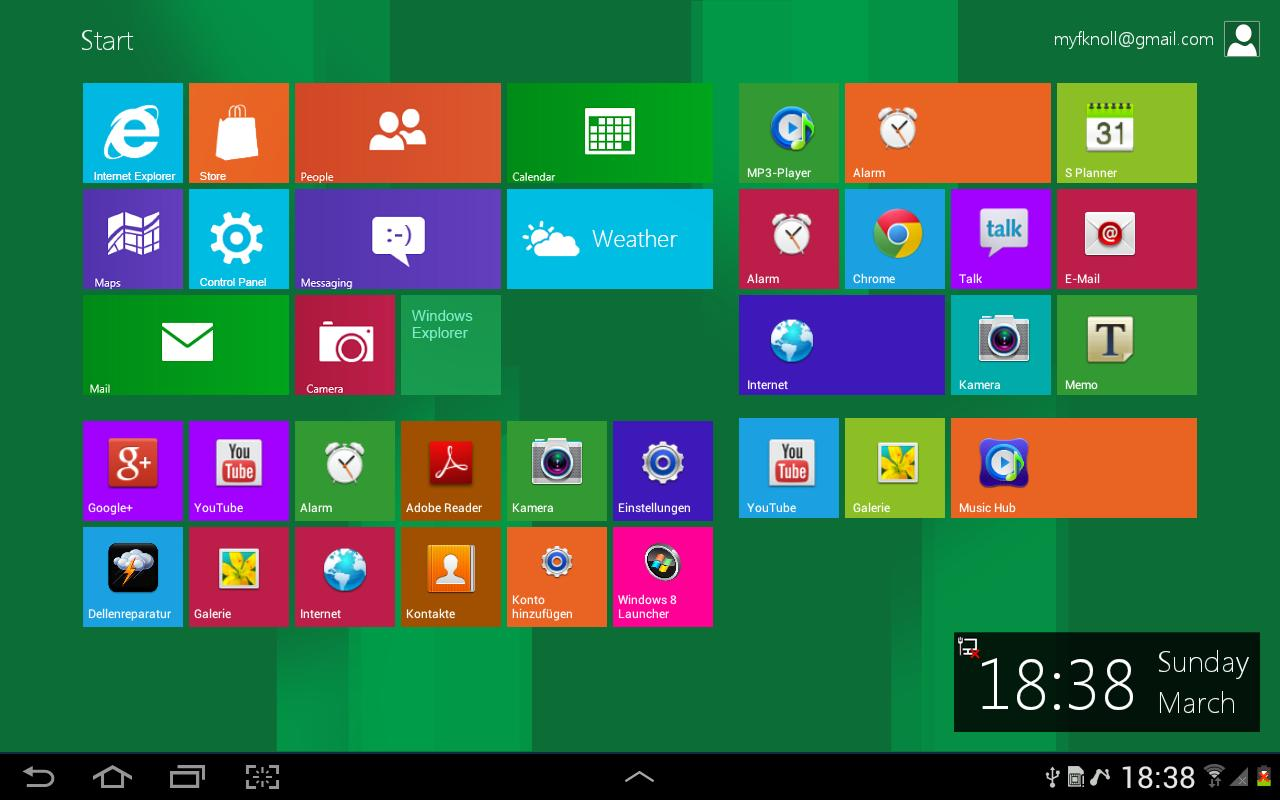 Windows 8 Metro Launcher - screenshot