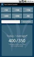 Screenshot of Fast Calorie Counter Pro