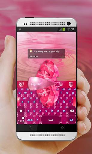 粉紅色鑽石 GO Keyboard