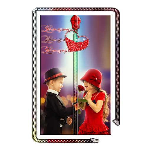可愛的情侶拉鍊鎖屏 個人化 App LOGO-硬是要APP
