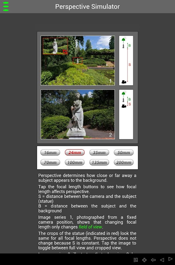 CanonSGLens - screenshot