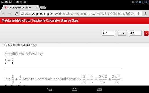 Fraction Calculator StepByStep