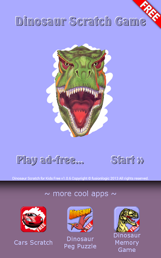 Dinosaur Scratch for Kids Free