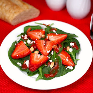 Strawberry Spinach Salad with Strawberry Dressing.