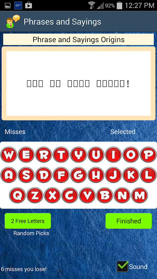 Solve Sayings- screenshot