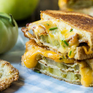 Fried Green Tomato and Bacon Grilled Cheese.