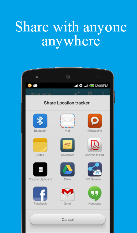 Share apps- screenshot