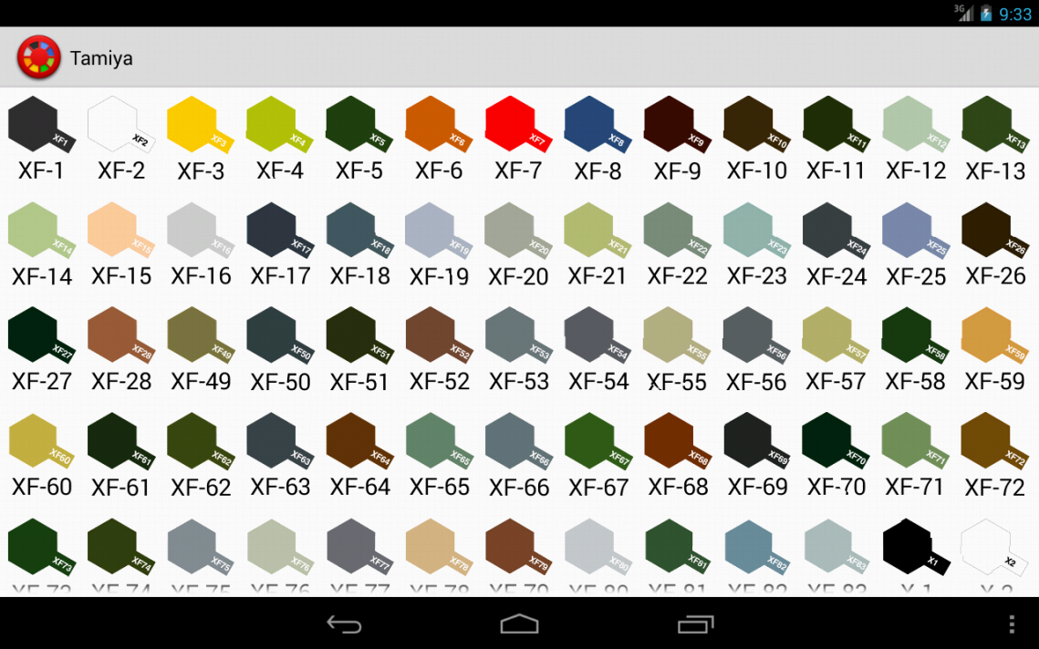 Folk art acrylic paint color chart - Hobby Color Converter Screenshot