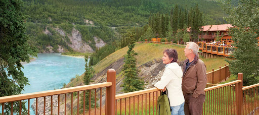 Denali-Princess-Wilderness-Lodge-Alaska-4 - Taking in the scenic landscape from the deck of Denali Princess Wilderness Lodge in Alaska.