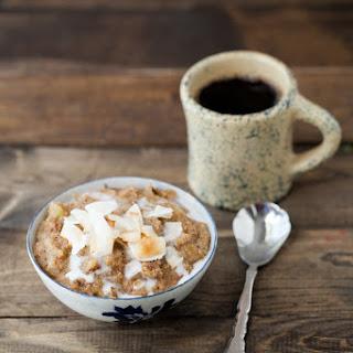 Coconut Rhubarb Amaranth Porridge Recipe
