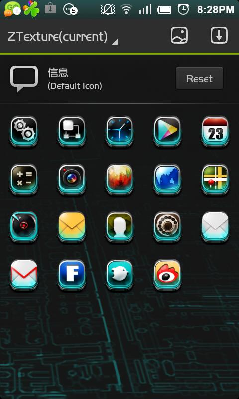 ZTexture GO Launcher Theme - screenshot