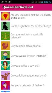 Quizzes For Girls - screenshot thumbnail
