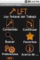 Screenshot of Ley Federal del Trabajo
