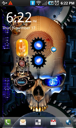 Steampunk Skull Live Wallpaper screenshot