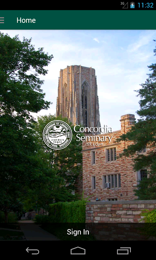 Concordia Seminary- screenshot