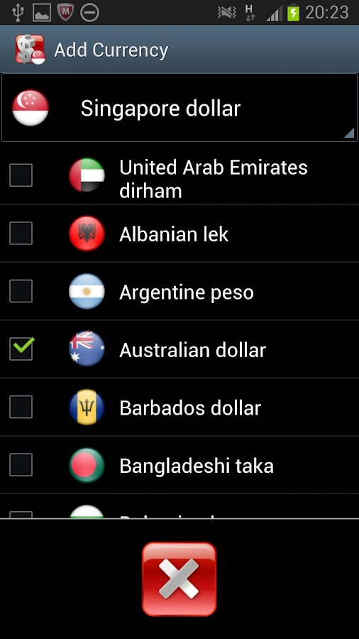 Singapore Currency Converter - screenshot