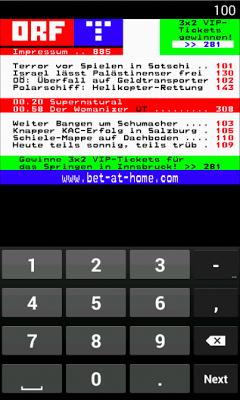 Teletext ORF - TeleGexx - screenshot