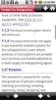Screenshot of NFPA 10 2010 Edition
