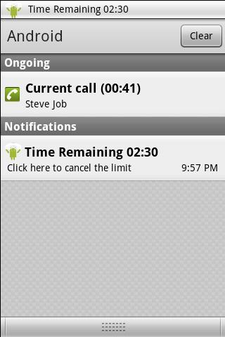 Limit My Call - screenshot