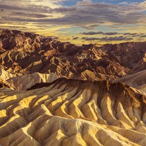 Death Valley Twilight by Eric Yiskis - Landscapes Deserts ( death valley, desert, zabriski point, a6000, landscape )
