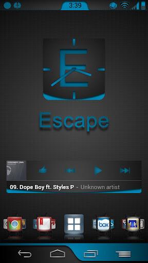 Blue Escape Theme Chooser